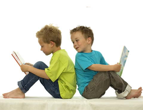 two-little-boys-reading