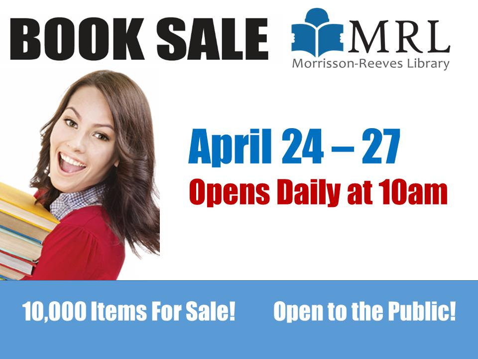 MRL APRIL BOOK SALE